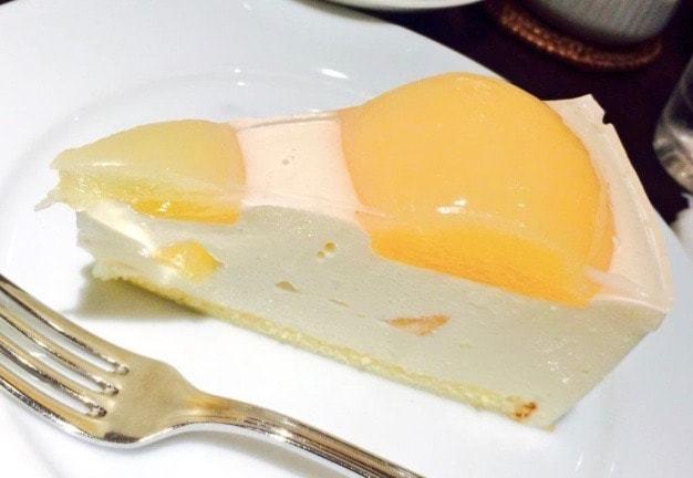harbs-白桃のレアチーズケーキ