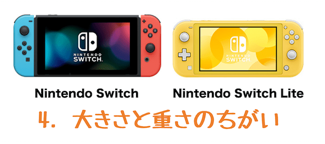 nintendo switch 比較 大きさ